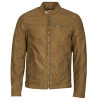 衣服 男士 皮夹克/ 人造皮革夹克 Jack & Jones 杰克琼斯 JJEROCKY 棕色
