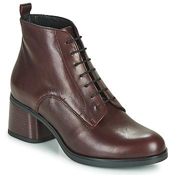 鞋子 女士 短靴 André EADBERT 波尔多红
