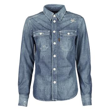 衣服 女士 衬衣/长袖衬衫 G-Star Raw KICK BACK WORKER SHIRT WMN L\S 蓝色 / Edium