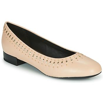 鞋子 女士 平底鞋 Geox 健乐士 D WISTREY 玫瑰色 / 金色