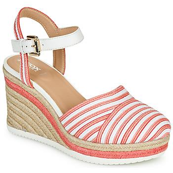 鞋子 女士 凉鞋 Geox 健乐士 D PONZA 红色 / 白色