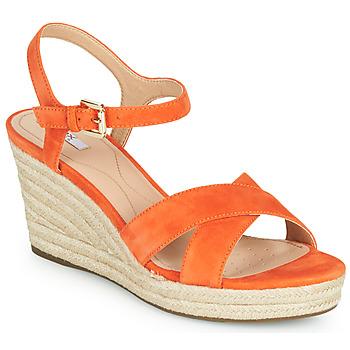 鞋子 女士 球鞋基本款 Geox 健乐士 D SOLEIL 橙色