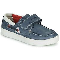 鞋子 男孩 皮便鞋 Geox 健乐士 J DJROCK GARÇON 蓝色 / 白色