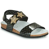 鞋子 女孩 凉鞋 Geox 健乐士 J ADRIEL GIRL 黑色 / 金色
