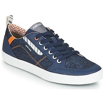 鞋子 男孩 球鞋基本款 Geox 健乐士 JR KILWI GARÇON 蓝色