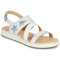 鞋子 女孩 凉鞋 Geox 健乐士 J SANDAL REBECCA GIR 白色 / 银灰色