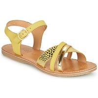 鞋子 女孩 凉鞋 Geox 健乐士 J SANDAL EOLIE GIRL 黄色 / 金色