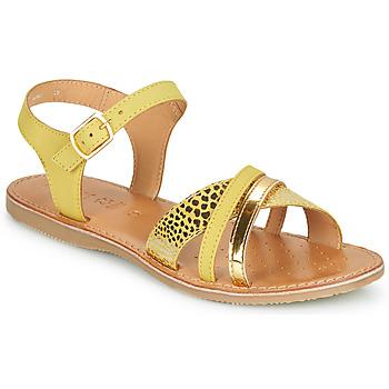 鞋子 凉鞋 Geox 健乐士 J SANDAL EOLIE GIRL 黄色 / 金色