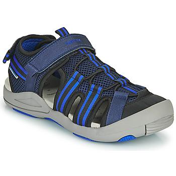 鞋子 儿童 凉鞋 Geox 健乐士 JR SANDALE KYLE 蓝色