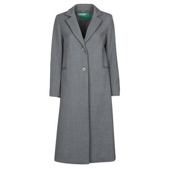 衣服 女士 大衣 Benetton  灰色