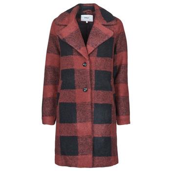 衣服 女士 大衣 Only ONLVICKI 红色 / 黑色