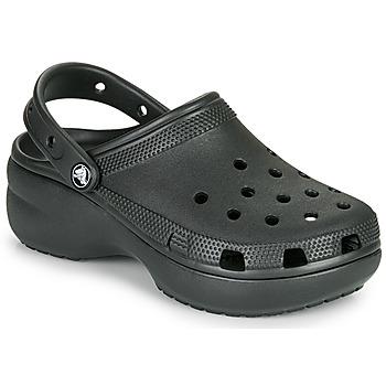 鞋子 女士 洞洞鞋/圆头拖鞋 crocs 卡骆驰 CLASSIC PLATFORM CLOG W 黑色