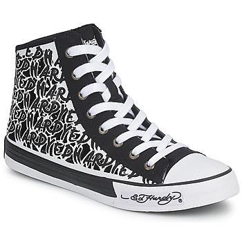 鞋子 女士 高帮鞋 Ed Hardy RESOUDRE 黑色 / 白色