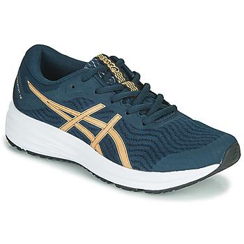 鞋子 女士 跑鞋 Asics 亚瑟士 PATRIOT 12 蓝色 / 橙色