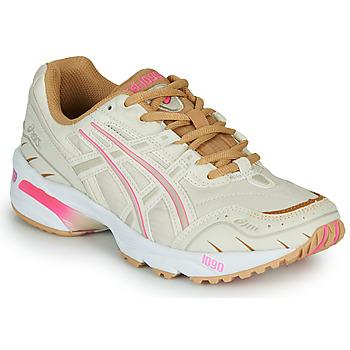鞋子 女士 球鞋基本款 Asics 亚瑟士 1090 白色 / 玫瑰色 / 金色