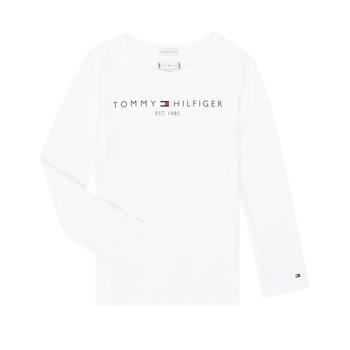 衣服 女孩 长袖T恤 Tommy Hilfiger KG0KG05247-YBR-C 白色