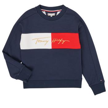 衣服 女孩 卫衣 Tommy Hilfiger KG0KG05497-C87-J 海蓝色