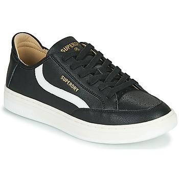 鞋子 男士 球鞋基本款 Superdry 极度干燥 BASKET LUX LOW TRAINER 黑色