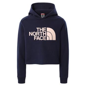 衣服 女孩 卫衣 The North Face 北面 DREW PEAK CROPPED HOODIE 海蓝色