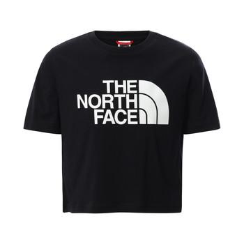 衣服 女孩 短袖体恤 The North Face 北面 EASY CROPPED TEE 黑色