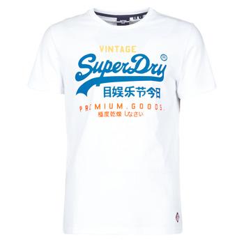 衣服 男士 短袖体恤 Superdry 极度干燥 VL TRI TEE 220 白色