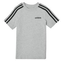 衣服 男孩 短袖体恤 adidas Performance 阿迪达斯运动训练 YB E 3S TEE 灰色
