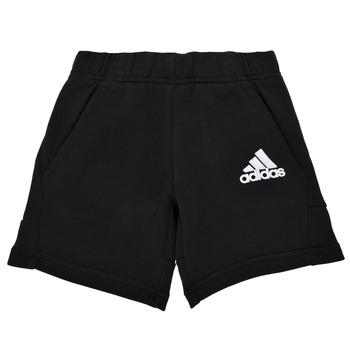衣服 男孩 短裤&百慕大短裤 adidas Performance 阿迪达斯运动训练 B BOS SHORT 黑色