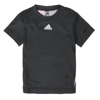 衣服 男孩 短袖体恤 adidas Performance 阿迪达斯运动训练 B A.R. TEE 黑色