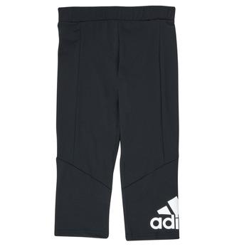 衣服 女孩 紧身裤 adidas Performance 阿迪达斯运动训练 G BL 34 TIG 黑色
