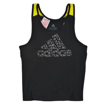 衣服 女孩 无领短袖套衫/无袖T恤 adidas Performance 阿迪达斯运动训练 G LEO TK 黑色