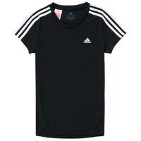 衣服 女孩 短袖体恤 adidas Performance 阿迪达斯运动训练 G 3S T 黑色