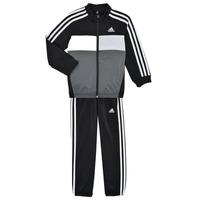 衣服 男孩 厚套装 adidas Performance 阿迪达斯运动训练 B TIBERIO TS 黑色 / 灰色