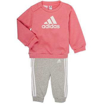 衣服 女孩 女士套装 adidas Performance 阿迪达斯运动训练 BOS JOG FT 玫瑰色