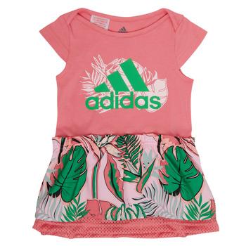 衣服 女孩 短裙 adidas Performance 阿迪达斯运动训练 FLOWER DRESS 玫瑰色