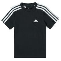 衣服 男孩 短袖体恤 adidas Performance 阿迪达斯运动训练 B 3S T 黑色