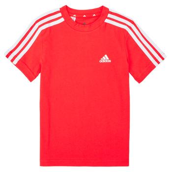 衣服 男孩 短袖体恤 adidas Performance 阿迪达斯运动训练 B 3S T 红色