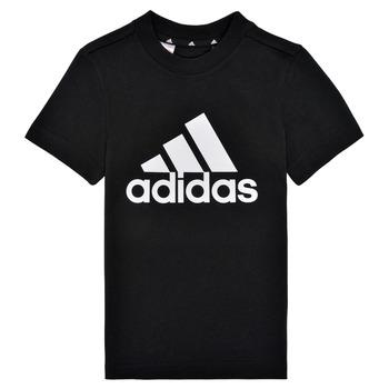 衣服 男孩 短袖体恤 adidas Performance 阿迪达斯运动训练 B BL T 黑色