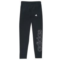 衣服 女孩 紧身裤 adidas Performance 阿迪达斯运动训练 G LIN LEG 黑色