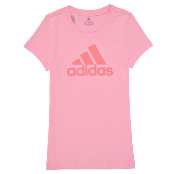 衣服 女孩 短袖体恤 adidas Performance 阿迪达斯运动训练 G BL T 玫瑰色