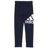 衣服 女孩 紧身裤 adidas Performance 阿迪达斯运动训练 G BL LEG 海蓝色