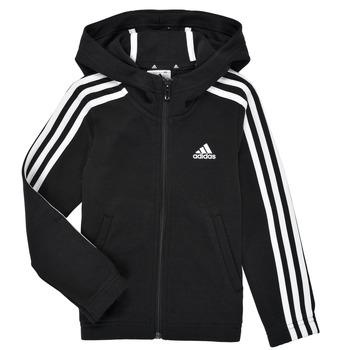 衣服 女孩 卫衣 adidas Performance 阿迪达斯运动训练 G 3S FZ HD 黑色