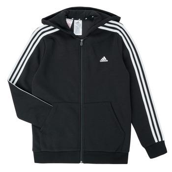 衣服 男孩 卫衣 adidas Performance 阿迪达斯运动训练 B 3S FZ HD 黑色