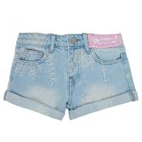 衣服 女孩 短裤&百慕大短裤 Desigual 21SGDD05-5010 蓝色