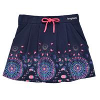 衣服 女孩 半身裙 Desigual 21SGFK03-5000 蓝色