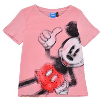 衣服 女孩 短袖体恤 Desigual 21SGTK43-3013 玫瑰色