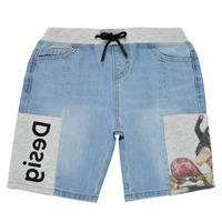 衣服 男孩 短裤&百慕大短裤 Desigual 21SBDD02-5053 蓝色
