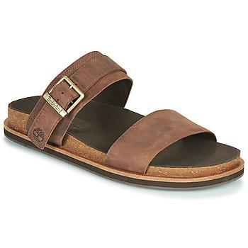 鞋子 男士 休闲凉拖/沙滩鞋 Timberland 添柏岚 AMALFI VIBES 2BAND SANDAL 棕色