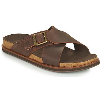 鞋子 男士 休闲凉拖/沙滩鞋 Timberland 添柏岚 AMALFI VIBES CROSS SLIDE 棕色