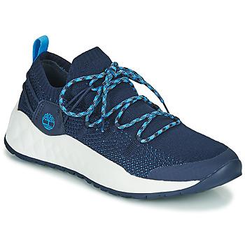 鞋子 男士 球鞋基本款 Timberland 添柏岚 SOLAR WAVE LOW KNIT 蓝色