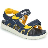 鞋子 儿童 凉鞋 Timberland 添柏岚 PERKINS ROW 2-STRAP 蓝色 / 黄色